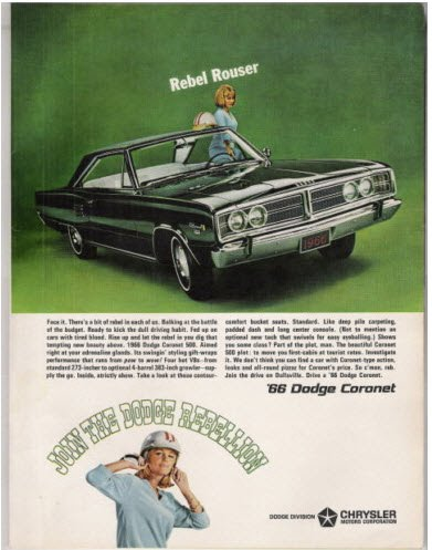 1966 Dodge Coronet Advertisement
